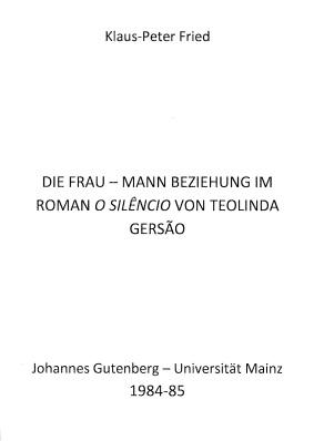 Die Frau - Mann Beziehung im Roman...