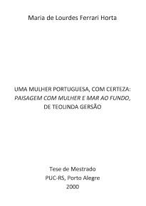 Uma Mulher Portuguesa, com Certeza...