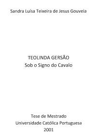 Teolinda Gersão Sob o Signo do Cavalo