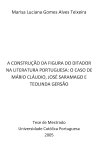 A Construção da Figura do Ditador na Literatura Portuguesa...