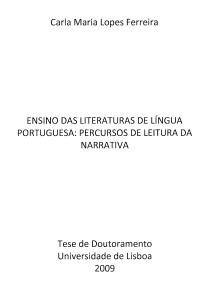 Ensino das Literaturas de Língua Portuguesa...