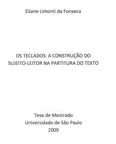 Os Teclados: A Construção do Sujeito-Leitor na Partitura do Texto