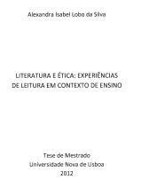 Literatura e Ética: Experiências de Leitura...